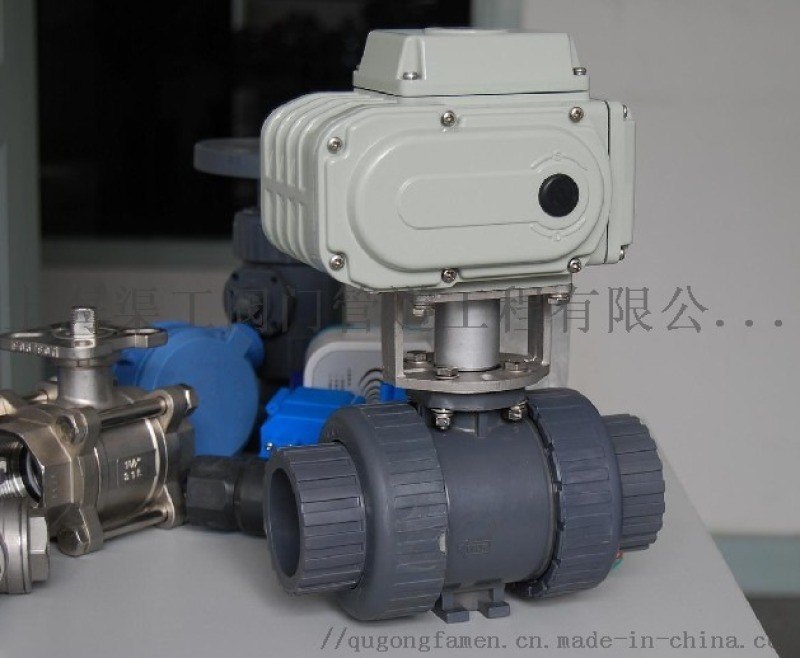 SQ911电动塑料球阀、双由令电动球阀