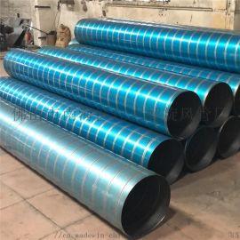 广州地区通风排气工程304不锈钢螺旋风管加工厂