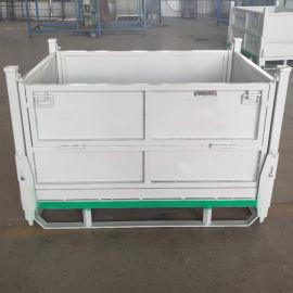 金属箱110A折叠式周转箱可堆式周转箱钢制料箱