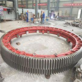 宽度180mm铸钢系列粉煤灰烘干机大齿轮