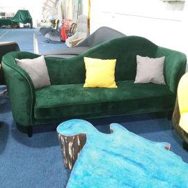 美式布艺皮革沙发钢琴半圆弧形沙发贵妃沙发懒人沙发