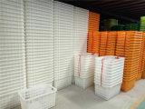 開縣塑料筐蔬菜週轉筐週轉箱帶鐵柄塑料箱