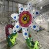 广州玻璃钢花朵雕塑 公园玻璃钢植物雕塑