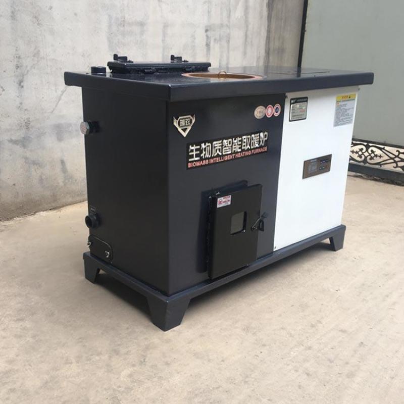 生物颗粒取暖炉家用商用暖风炉 木屑颗粒采暖炉