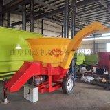 大型鍘草粉碎機 圓筒式草捆破碎機  飼料秸稈粉碎機