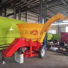 大型铡草粉碎机 圆筒式草捆破碎机    秸秆粉碎机