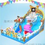 湖南益阳广场上的新款充气城堡大型充气滑梯蹦床人气高