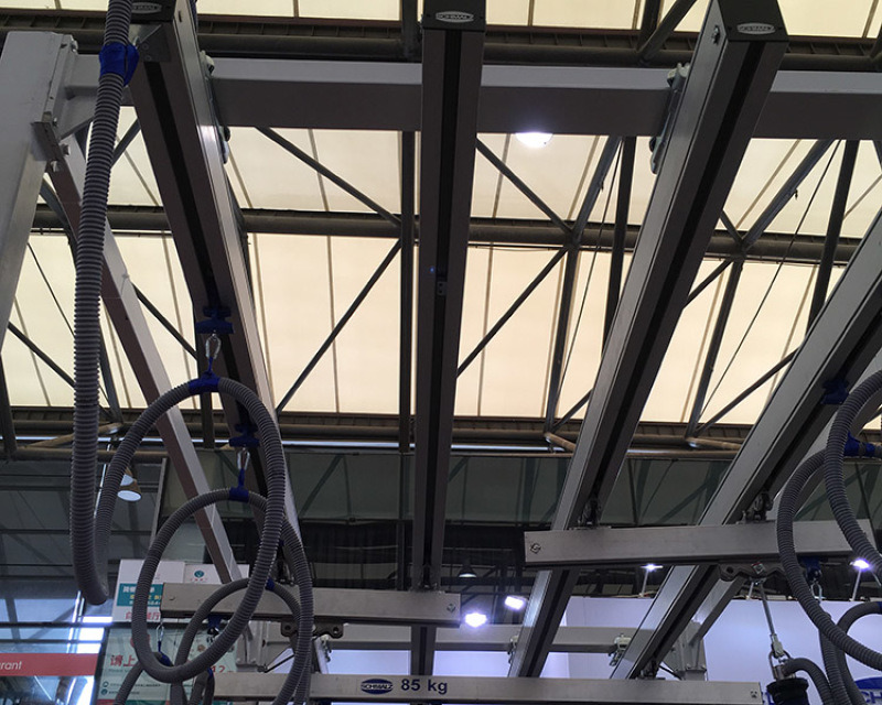单梁悬挂起重机,铝合金轨道,轻型起重设备