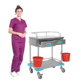 SKH022 不锈钢治疗车 病人推车