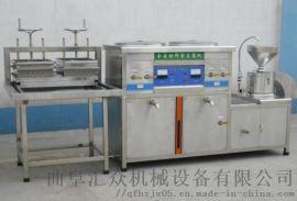 全自动干豆腐机视频 数控豆腐皮机械 利之健lj 豆