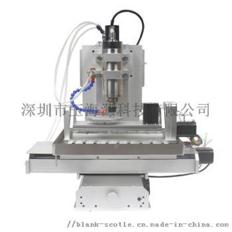 小型數控5軸聯動3D木工亞克力代木雕刻機