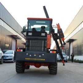 护栏打桩机 装载式空压一体机 轮式高速公路打桩机