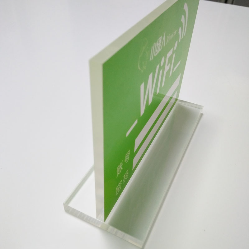 源头工厂 压亚克力有机玻璃L型台卡台签广告牌