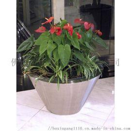 不锈钢花盆花架定制厂家户外圆形花盆
