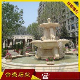 石材喷水池_石材水钵  景观石材喷泉