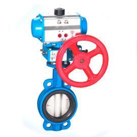 良工上海铸铁气动对夹式蝶阀气动三联件