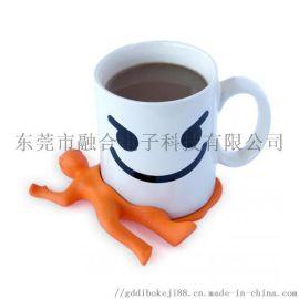 扁状人性硅胶垫,定制化配饰水杯垫_硅胶垫
