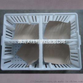 鸡苗箱 塑料透气鸡苗箱 带隔板鸡苗箱