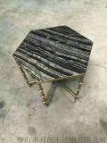 创意不锈钢茶几架,酒店不锈钢桌子厂家定制