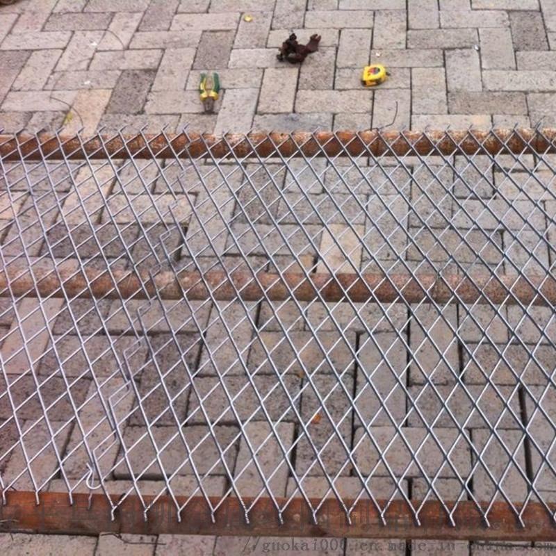 红漆圈边脚踏网 拉伸钢板网 钢芭片
