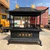 仿古铜雕长方形香炉,大型寺庙铸铜长方形香炉厂家