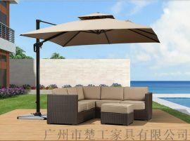酒吧街藤沙发庭院休闲区藤制桌椅定制藤家具