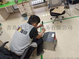 青岛施耐德变频器显示OBF制动过速故障维修
