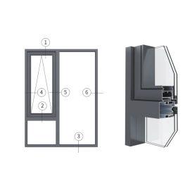 """兴发铝材创高US80-140系列""""幕墙式""""隐框窗"""