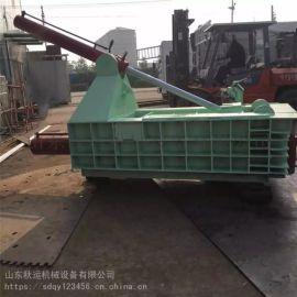 江阴废铝废钢卧式压块机 自动翻包成型机