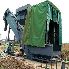 集装箱粉煤灰拆箱机 铁运干灰翻箱卸车机 无尘卸灰机
