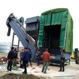 集裝箱幹灰中轉設備 無揚塵碼頭拆箱機 翻箱卸灰機