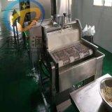 山东小酥肉设备带生产工艺 酥肉上浆裹粉油炸生产线