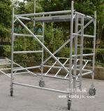 轻便铝合金快装组合脚手架,空达可拆卸移动铝架