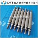 陕西定制两端接口钛棒滤芯、微孔钛粉末烧结滤芯