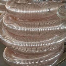 耐高温pu钢丝风管熔喷布吸风管喷漆房风管