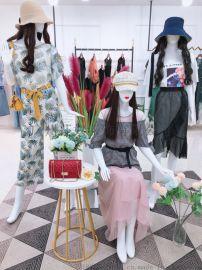 时尚品牌艾安琪女装2020夏**货货源直播走量供货
