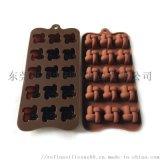 井字矽膠巧克力模具 15孔麻花糖果模 創意冰格
