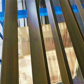 东莞青古铜不锈钢方管,木纹304不锈钢方管