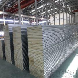 南通厂家直销彩钢聚氨酯夹芯板 PU彩钢夹芯板定制