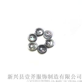 16L/2H天然黑蝶贝壳R边纽扣衬衣西装纽扣
