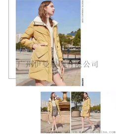 杭州**一线品牌香影冬装广州折扣女装批发货源走份