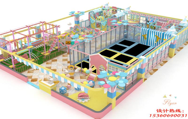 个性马卡龙淘气堡 儿童乐园定制游乐设备 飞翔家马卡龙主题淘气堡