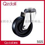 中型不鏽鋼黑色耐溫220度尼龍腳輪