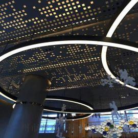 冲孔铝单板_ 弧形铝包柱-铝幕墙-铝板雕花