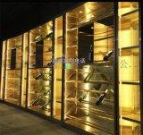 不鏽鋼裝飾別墅專用酒櫃定製