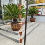 日式雨链生产加工 纯铜雨链排水链雨铃