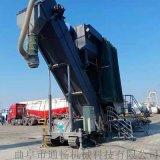 集装箱运输散灰中转设备 无尘卸车机 码头翻箱倒料机