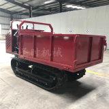 多功能盖房施工砖块搬运车直销 农用手推式履带运输车
