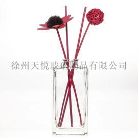 矩形方形150ml芳香蘆葦擴散器玻璃瓶