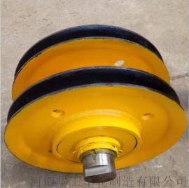 卷扬机滑轮组 吊钩滑轮组 10t铸钢轧制滑轮组